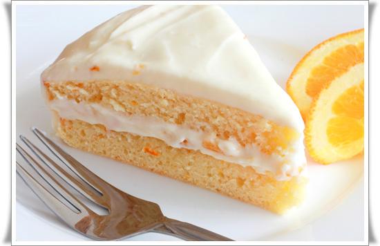 Апельсиновый торт низкокалорийный